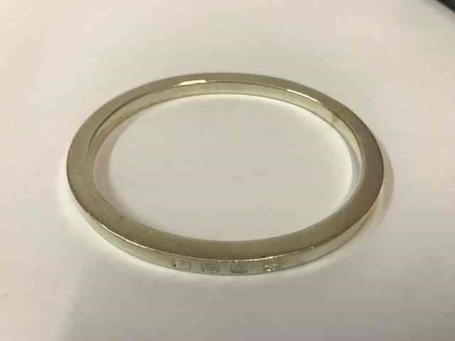 Lot 3 - Silver Bangle, Stamped 925, internal dimensions 5.5cm diameter, also with a pair of silver