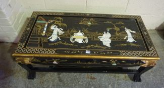 Modern Japanned Coffee Table,Condition reportSurface marks and scratches Visible colour fading
