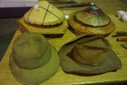 Mixed Lot of Sundry Collectables, to include a set of Antique iron hedge clippers, hats, railway