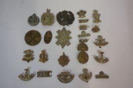 Large Collection of Military Badges, Mainly cap badges, to include examples by Argyll and Sutherland