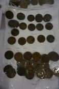 Large Quantity of 19th century and 20th century Coinage, to include eight pennies circa 1860s,