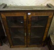 Bookcase Top, circa 19th century, Having two glazed doors enclosing a shelved interior,