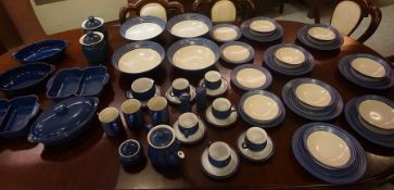 Denby Imperial Blue Dinner & Coffee Set, 63 pieces