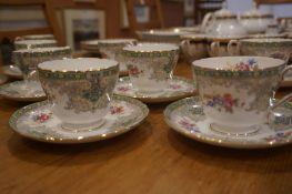 Shelley Georgian Pattern Part China Tea Set, 25 pieces
