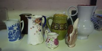 Mixed Lot of Pottery and Silver Plated Wares, to include boxed cutlery, jugs etc, also with a box of
