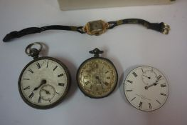 Mixed Lot of Vintage Wristwatches and Pocket Watches, to include Trench style wristwatches by