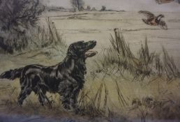 """Henry Wilkinson (1921-2011) """"Flatcoated Retriever"""" Limited Edition Colour Etching, no 39 of 180,"""