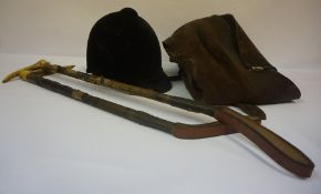 Mixed Lot of Hunting Accesories, to include a pair of long riding chaps, riding hat and two riding
