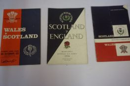 Collection of Scotland Rugby Programmes, circa 1950s-60s and later,