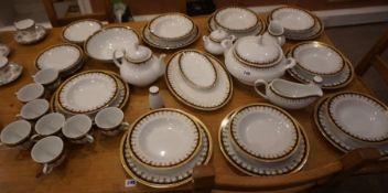 Part Porcelain Dinner Set by Pegasus, Approximately 30 pieces
