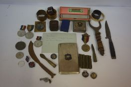 Quantity of Military and Other Collectables, to include Queen Victoria medal 1857-97, with