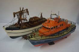 Two Model Boats, to include a Lifeboat, (2)Condition reportThese are static models They are both