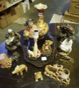 Mixed Lot of Oriental Collectables, to include soapstone items, Kutani vase, figures etc, also