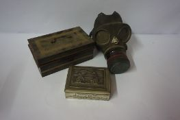 Quantity of Vintage Tins and Boxes, to include biscuit tins, also with a gas mask