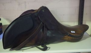 Brown Leather Riding Saddle,