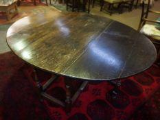 Large Oak Gateleg Table,