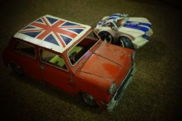 Mixed Lot of Model Cars, to include a model of a Mini, mustang by Country Artists, Matchbox baja