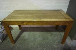 Wooden Refectory Table, (20th century) Possibly made from ash and elm, 78cm high, 150cm long, 75cm