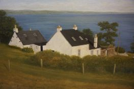 "Earle Douglas (Scottish) ""High Corrie Arran"" Oil on Board, signed and dated to lower right,"