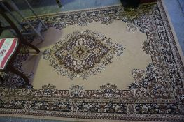 Floral Decorated Rug, on a brown ground, 261cm x 130cm
