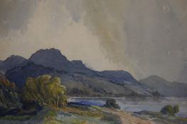 """F Buffham """"West Highlands"""" Watercolour, signed lower left"""