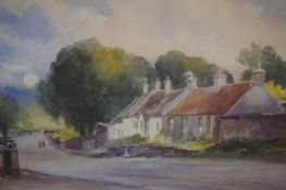 """John Blair (Scottish) """"Little France"""" Watercolour, signed and titled to lower right, 17cm x 25."""