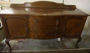 Mahogany Sideboard, also with a mahogany dressing chest, (2)