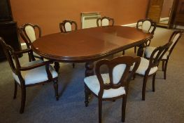 Victorian Style Mahogany Extending Dining Table, Having one additional leaf, also with a set of
