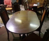 Set of Four Mahogany Dining Chairs, also with a Reproduction dining table, (5)