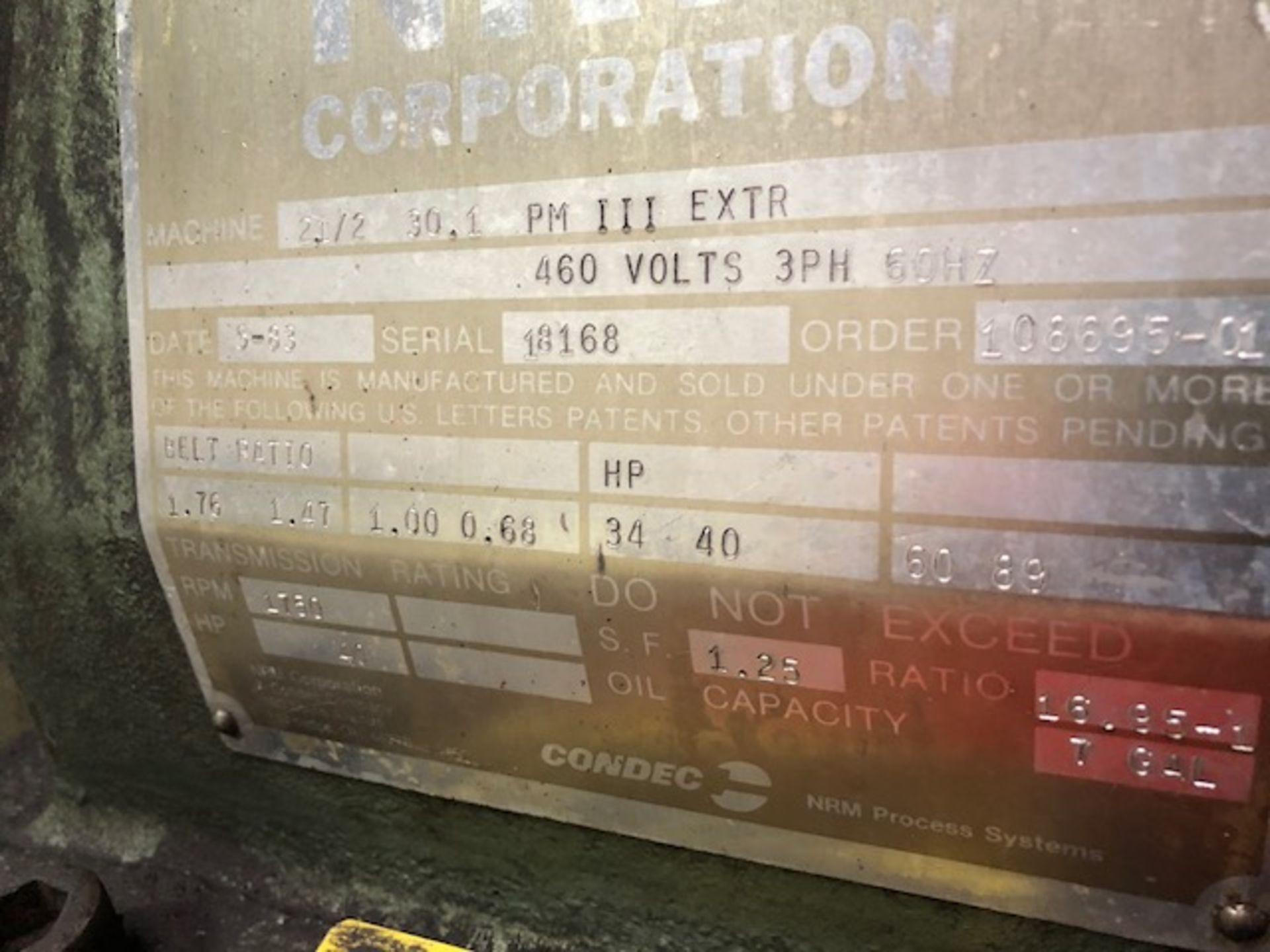 "Lot 108 - NRM 2.5"" - 30:1 PM III Extruder"