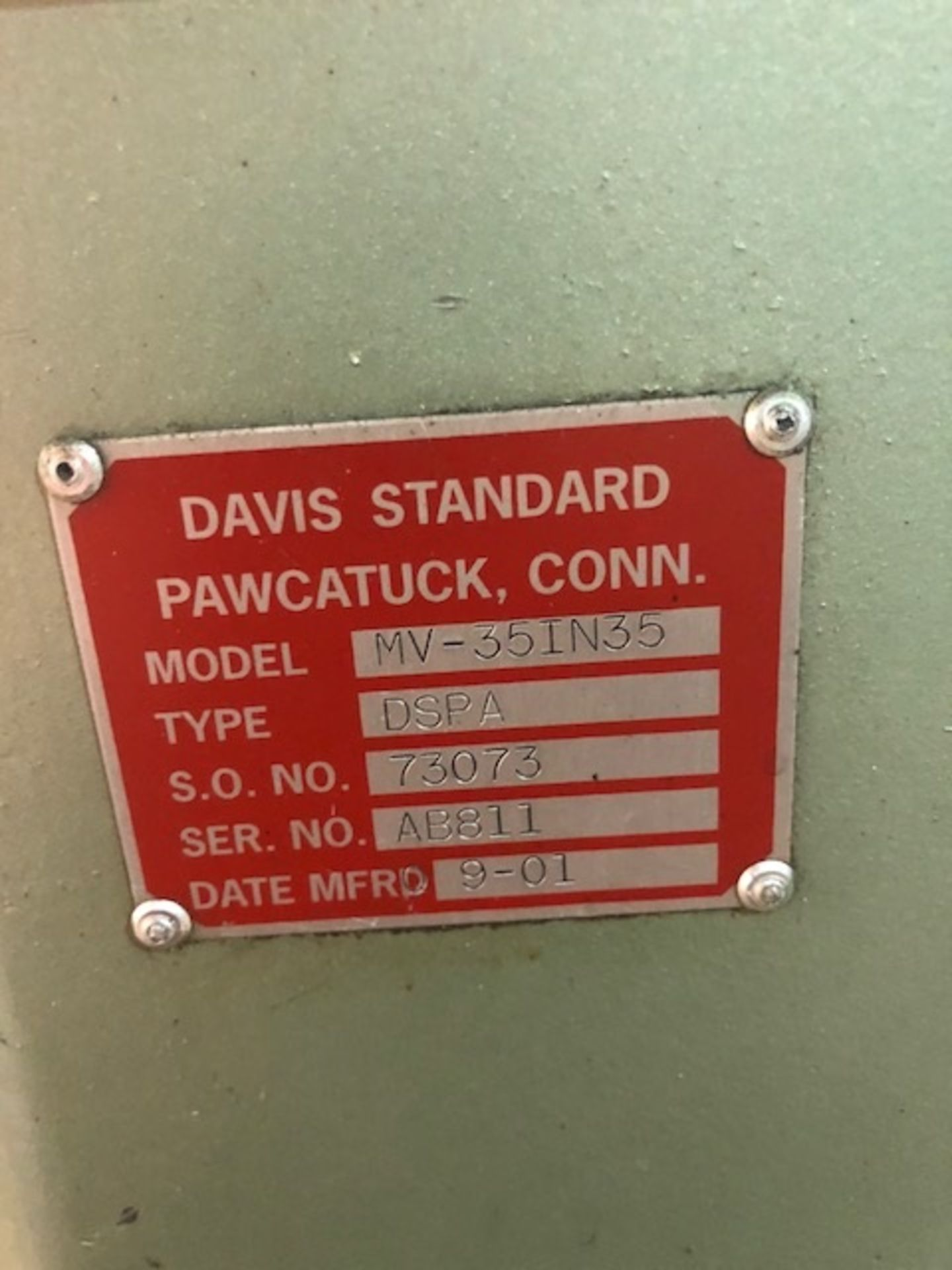 "Lot 104 - Davis Standard 3.5"" 30L/D Extruder, year"