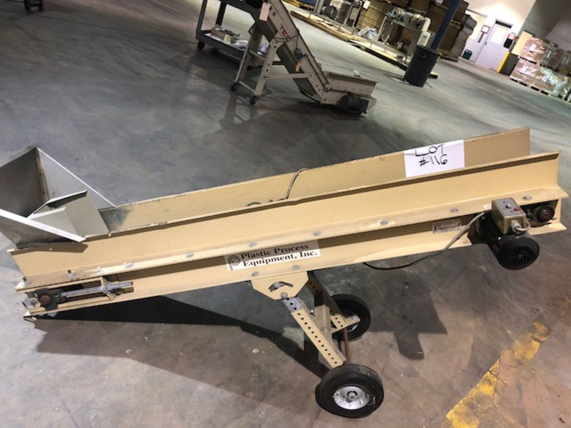 Lot 116 - Plastic Process Equipment Conveyor