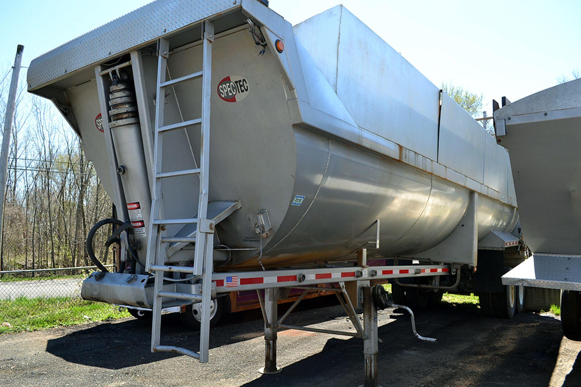 Lot 18 - 2017 Spectec Tec STFD3448102 34'-0 Tandem Axle, Steel End Dump, Rock Trailer
