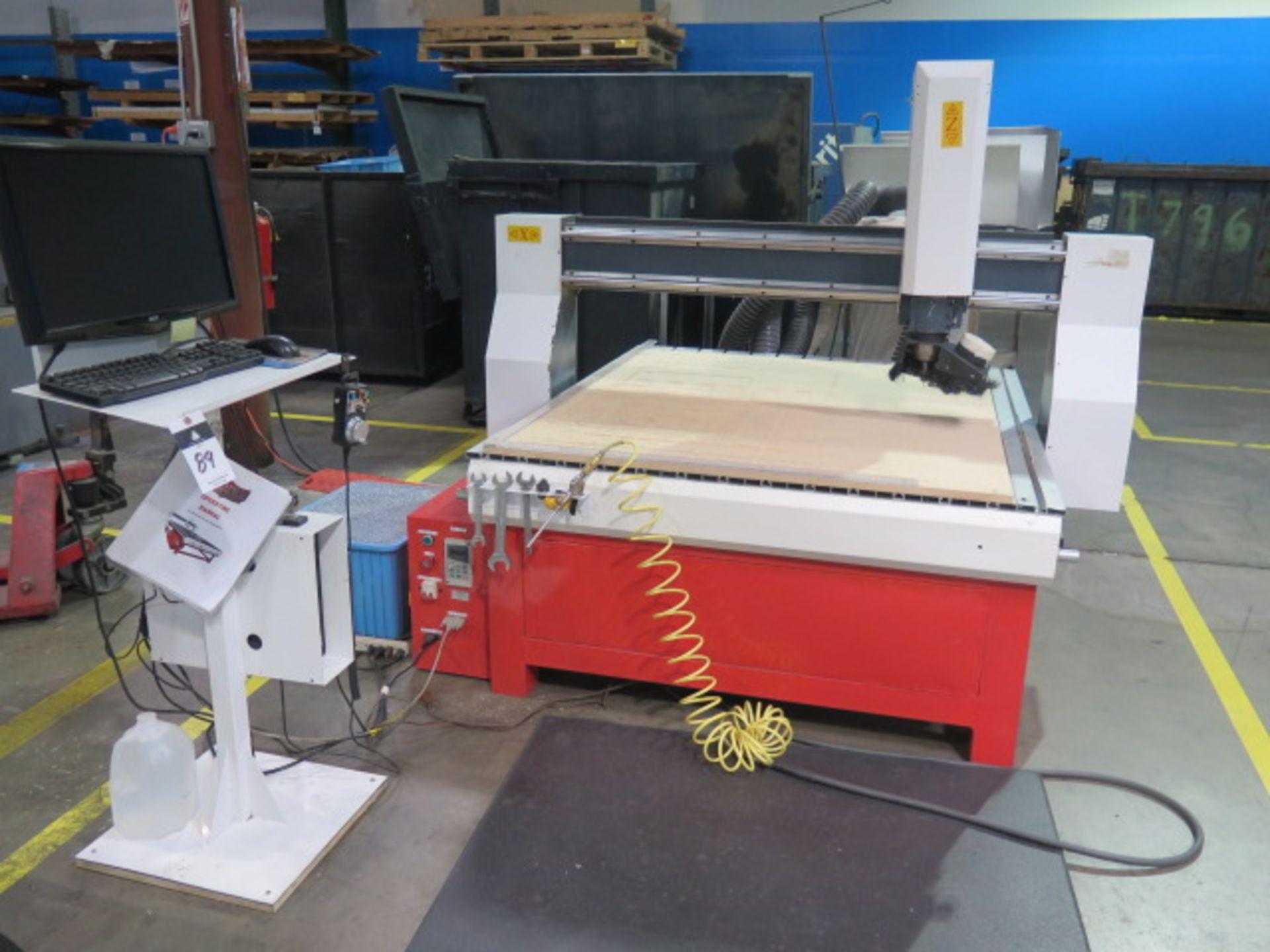 "Industrial CNC ""Mach 3"" 48"" x 48"" Pro Series CNC Router w/ ""Mach 3"" System Software, 48"" x 48"" x 12"""