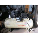 Lot 210 - Ingersoll Rand 15Hp Horizontal Air Compressor w/ 2-Stage Pump, 120 Gallon Tank