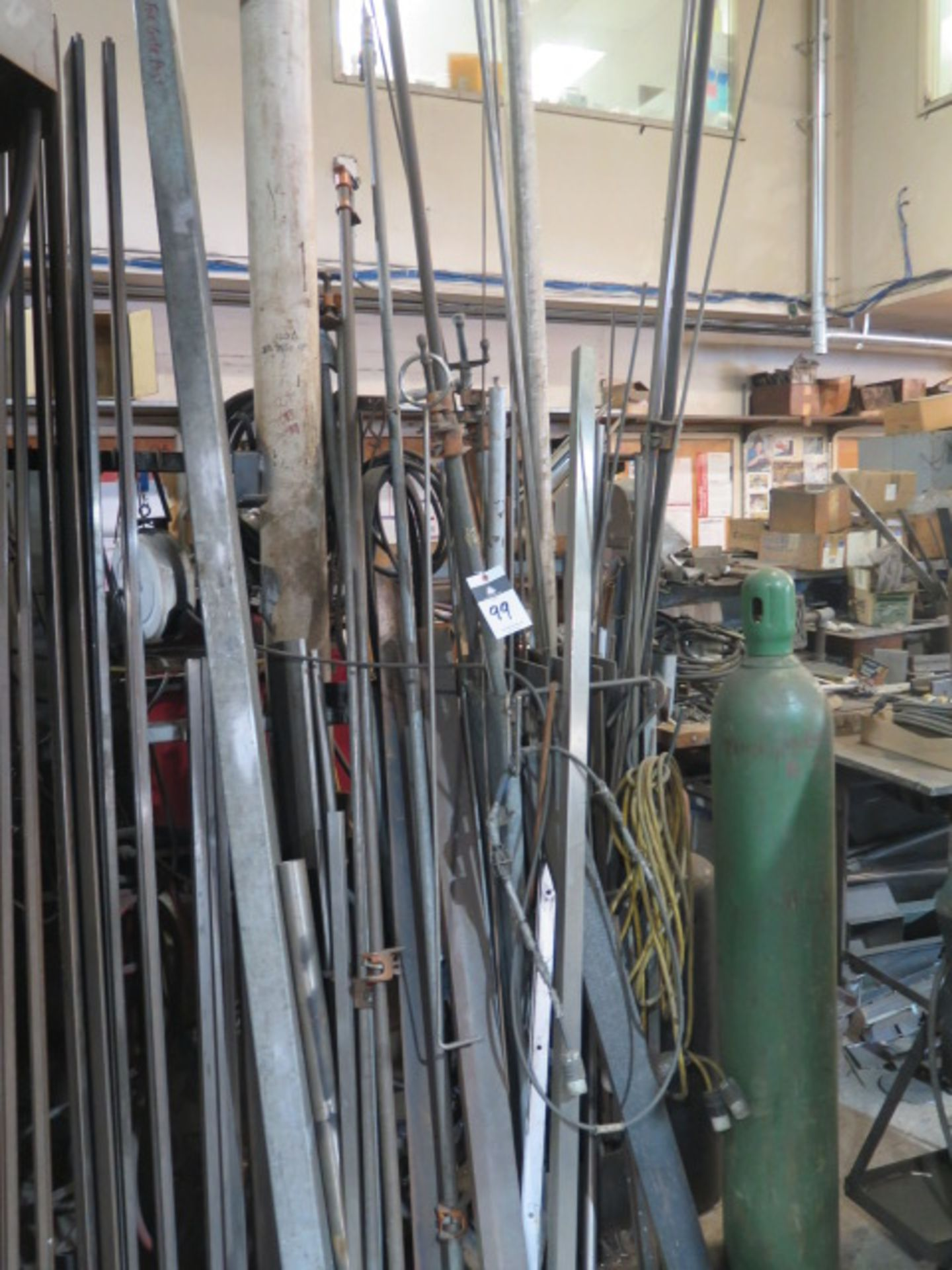 Lot 99 - Bar Clamps and Steel Stock