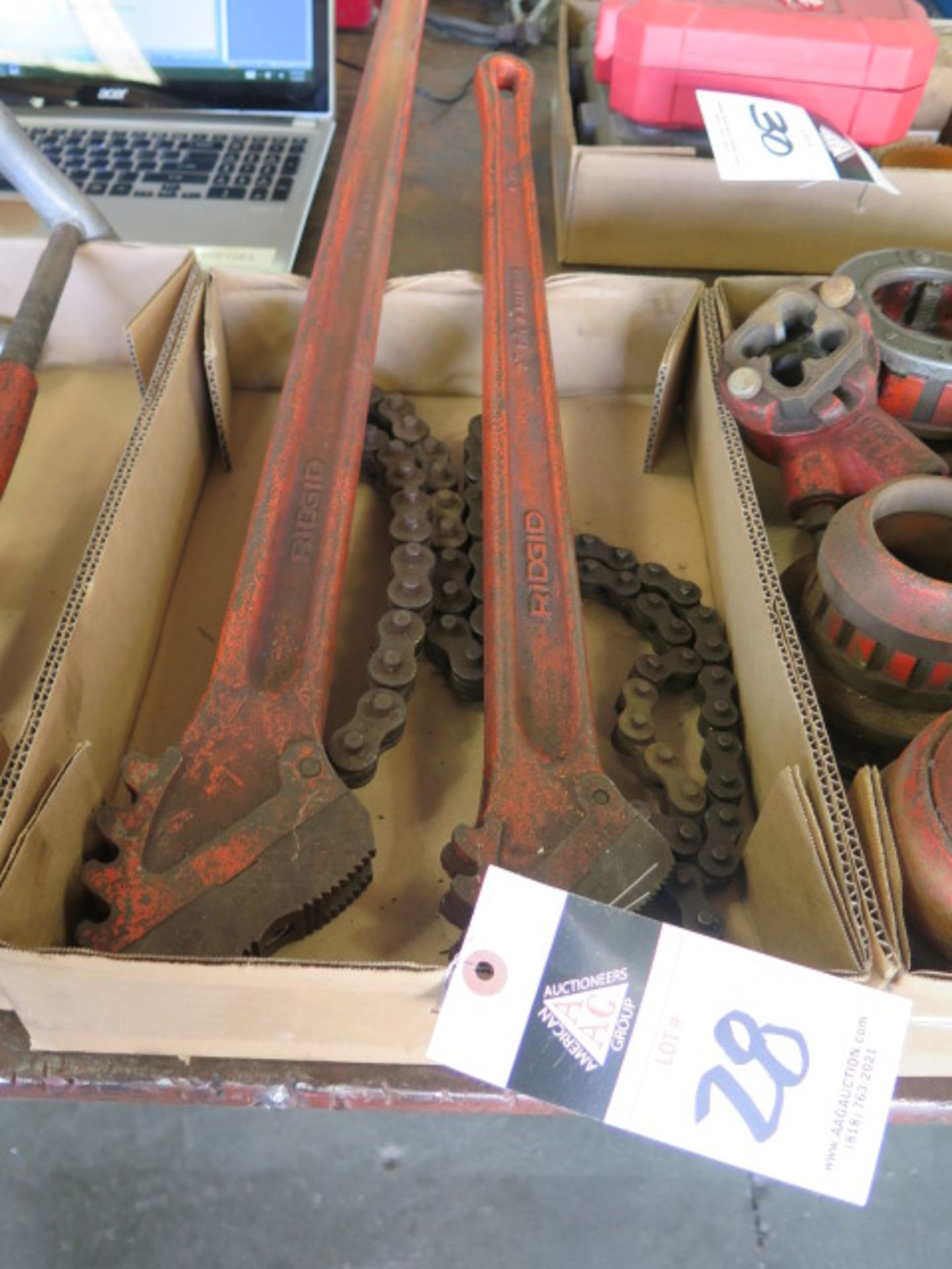 Lot 28 - Rigid Chain Wrenches