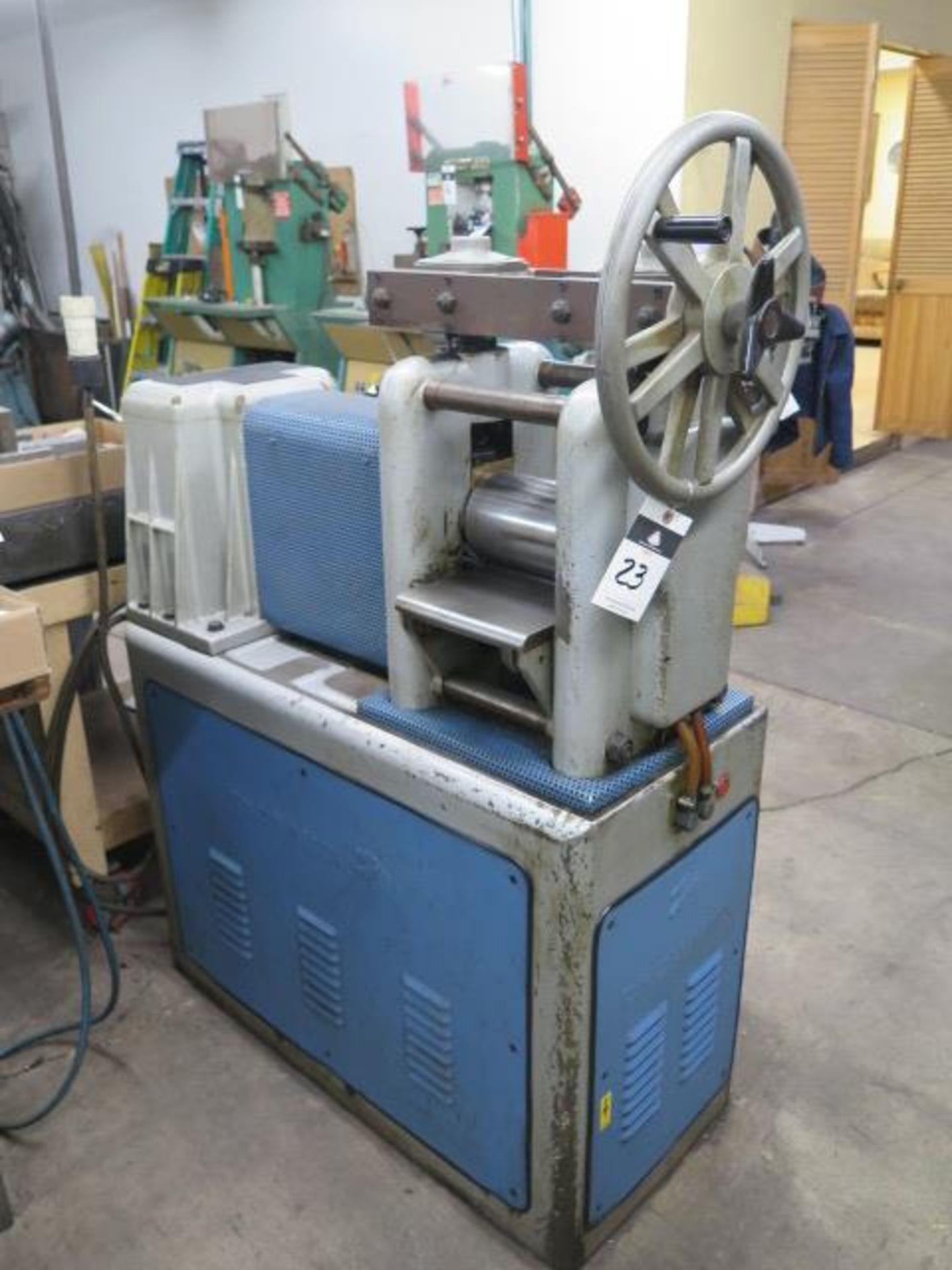 """F.LLi Cavallin mdl. MG20 8"""" Rolling Mill w/ Water Cooled Rolls - Image 3 of 9"""