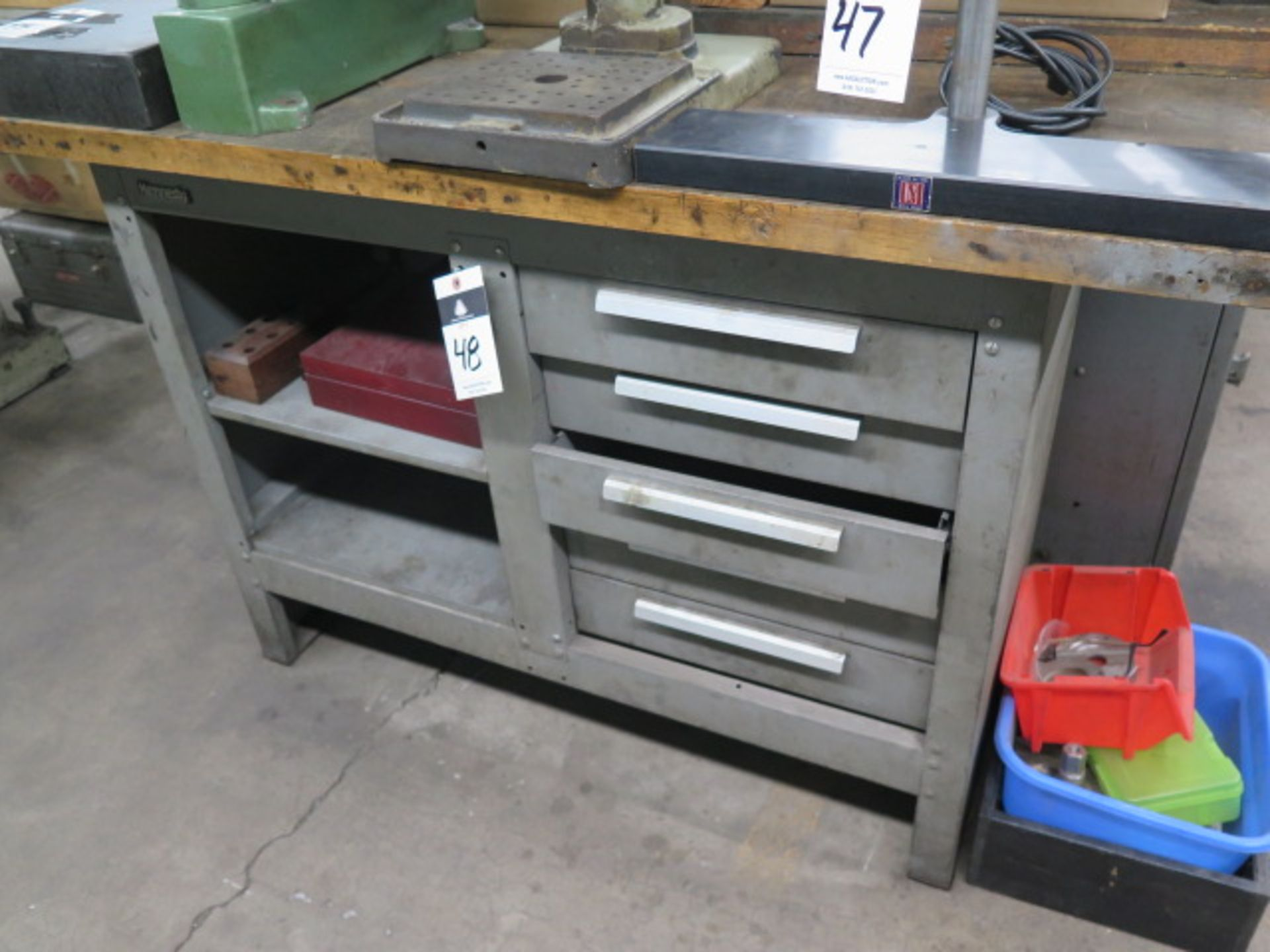 Lot 48 - Kennedy Maple Top Work Bench