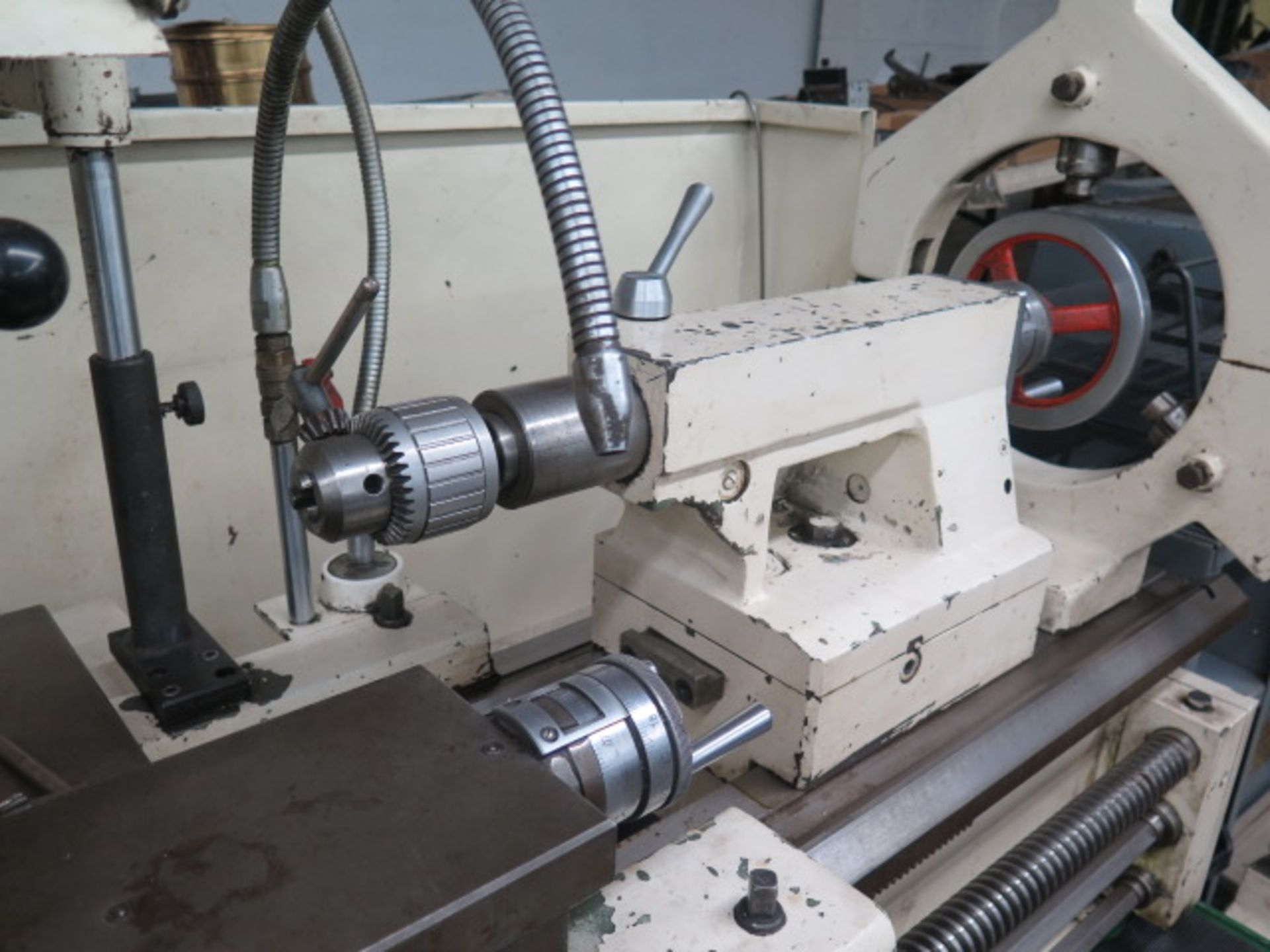 "Lot 25 - Lion C11MT 20"" x 46"" Geared Head Gap Bed Lathe s/n 17047 w/ 19-2400 RPM, Taper Attachment,"