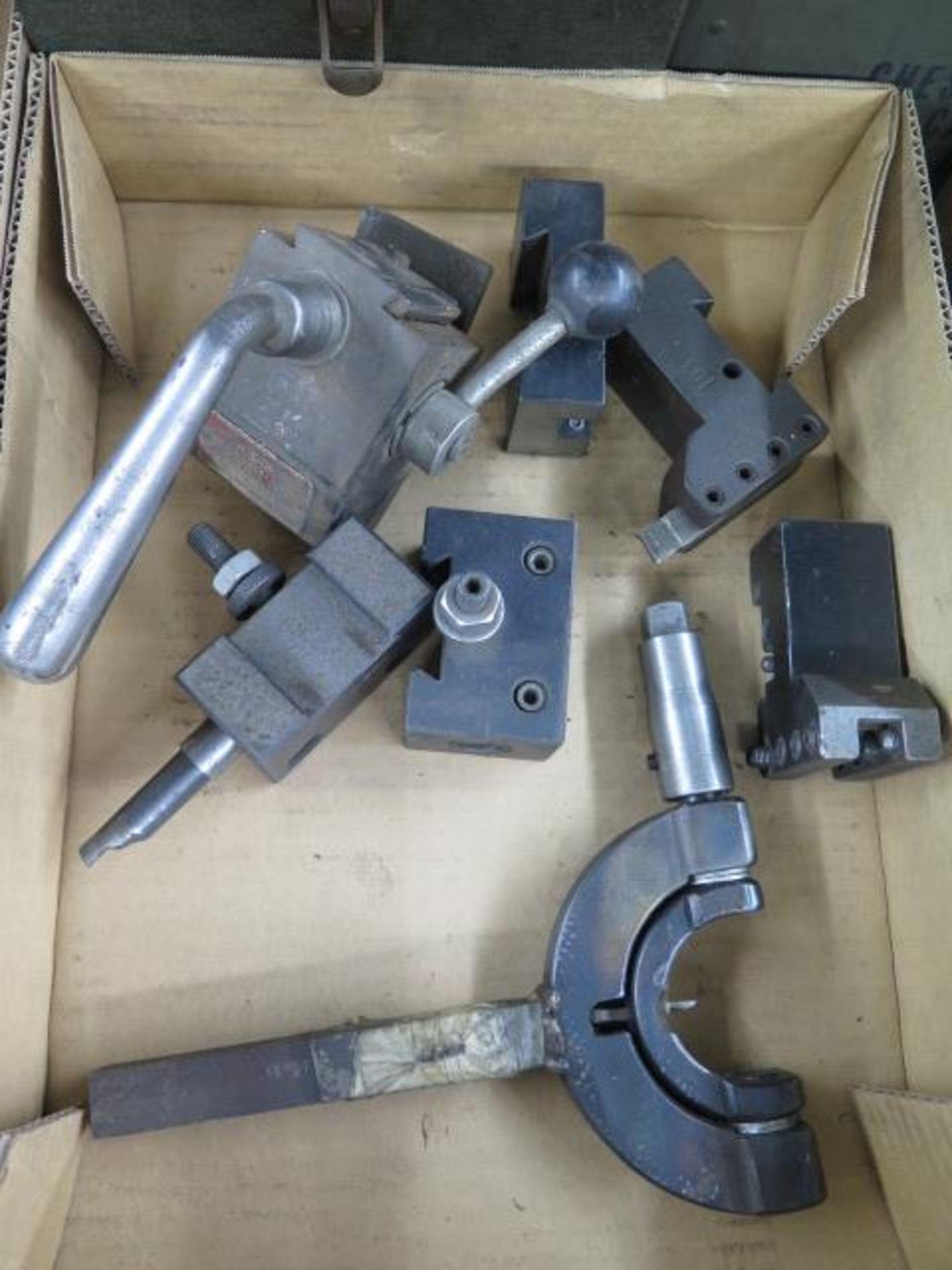 Lot 31 - KDK Tool Post w/ Tool Holders and Custom Radii Cutter