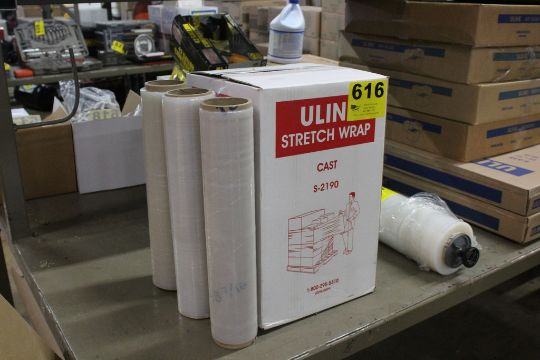 1) CASE AND (3) ROLLS OF ULINE STRETCH WRAP