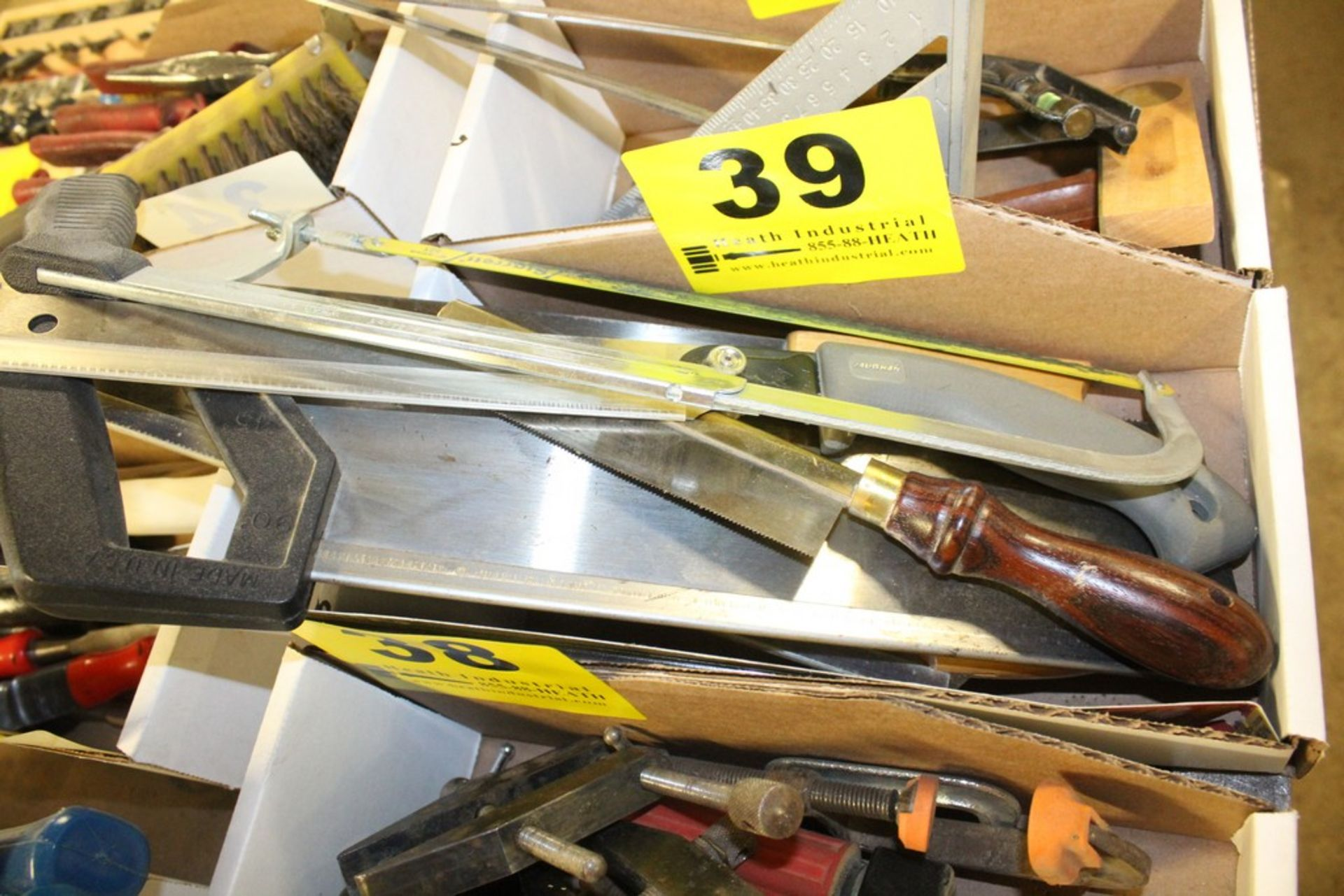 Lot 39 - ASSORTED HAND SAWS IN BOX