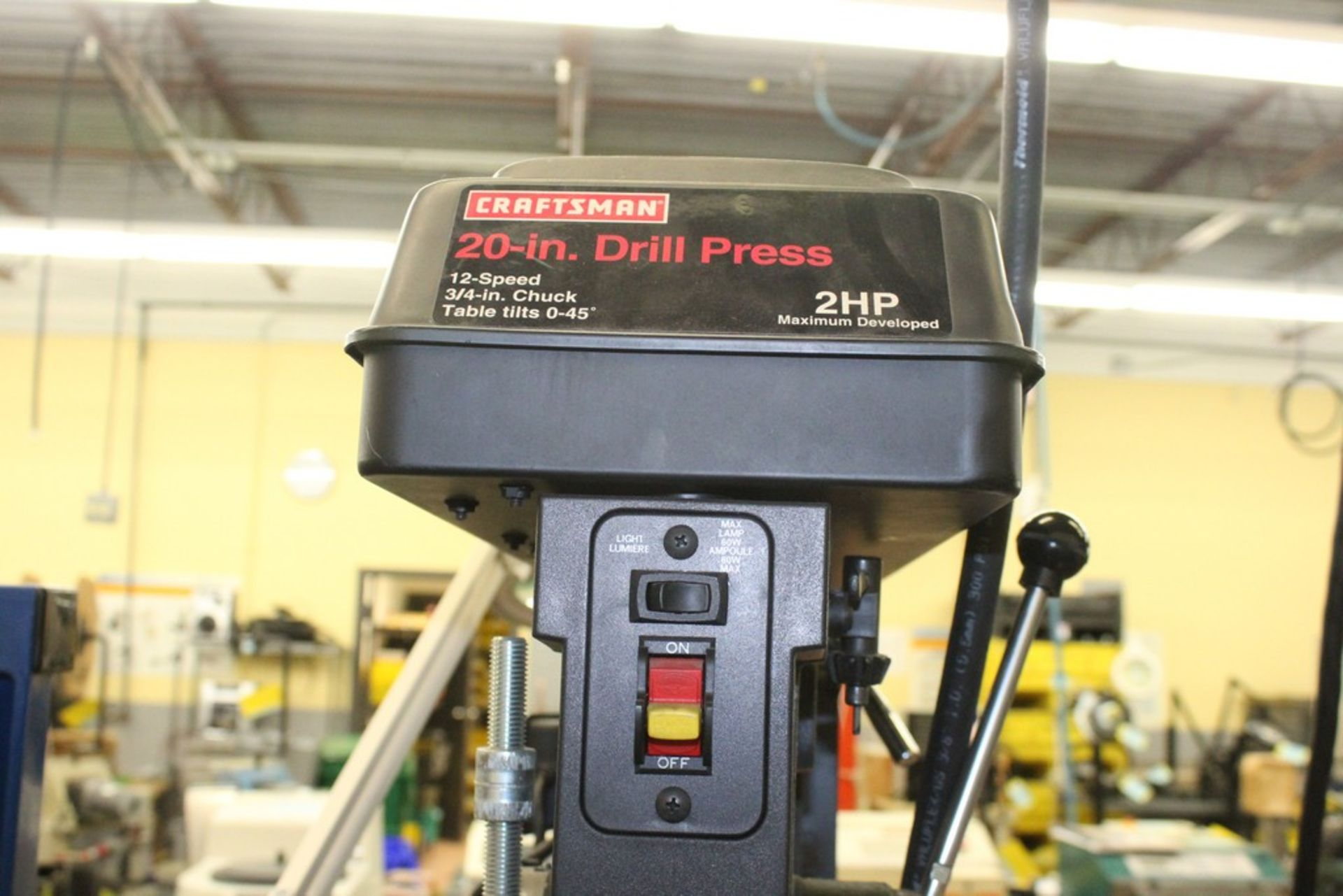 "Lot 1029 - CRAFTSMAN 20"" 2HP FLOOR STANDING DRILL PRESS"