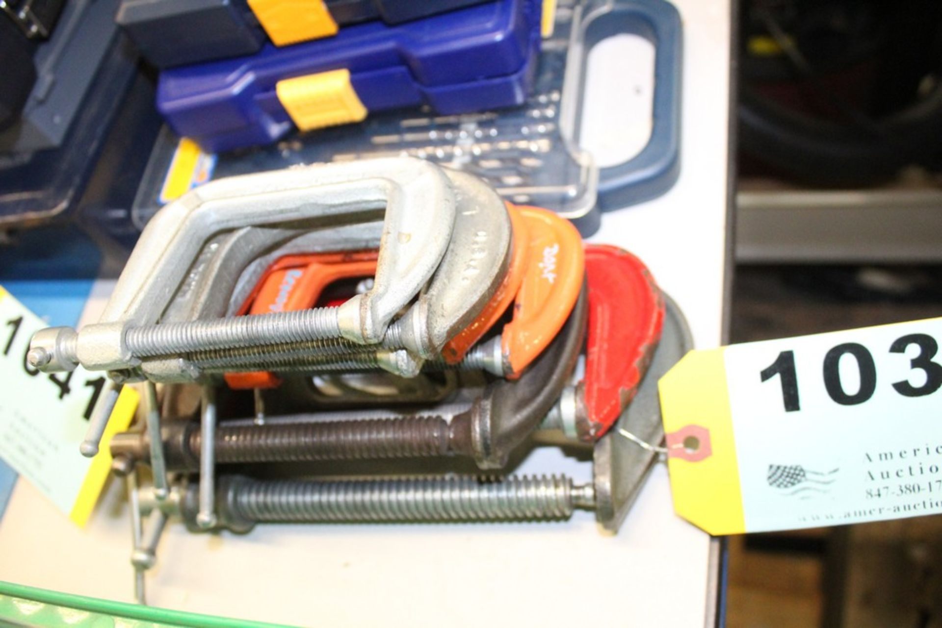 Lot 1036 - (8) ASSORTED C CLAMPS