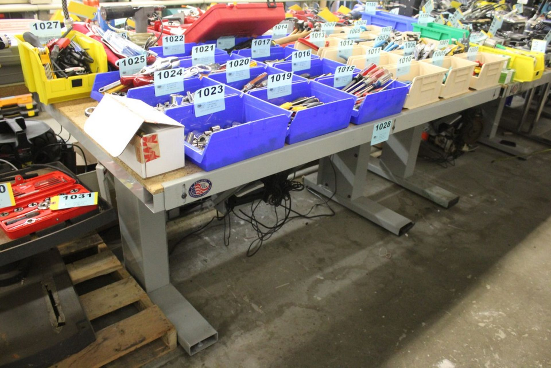 "Lot 1028 - PROLINE WORKBENCH 60"" X 36"" X 34"""