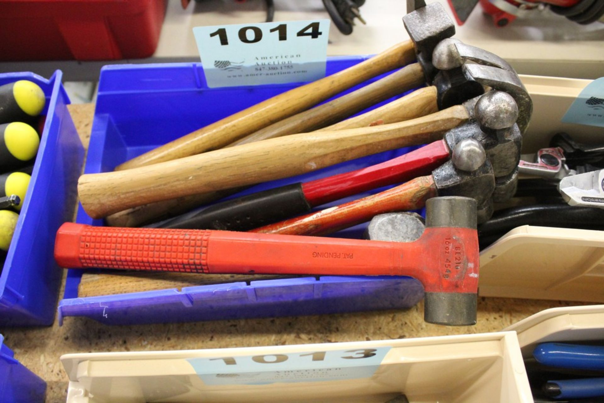 Lot 1014 - (8) ASSORTED HAMMERS