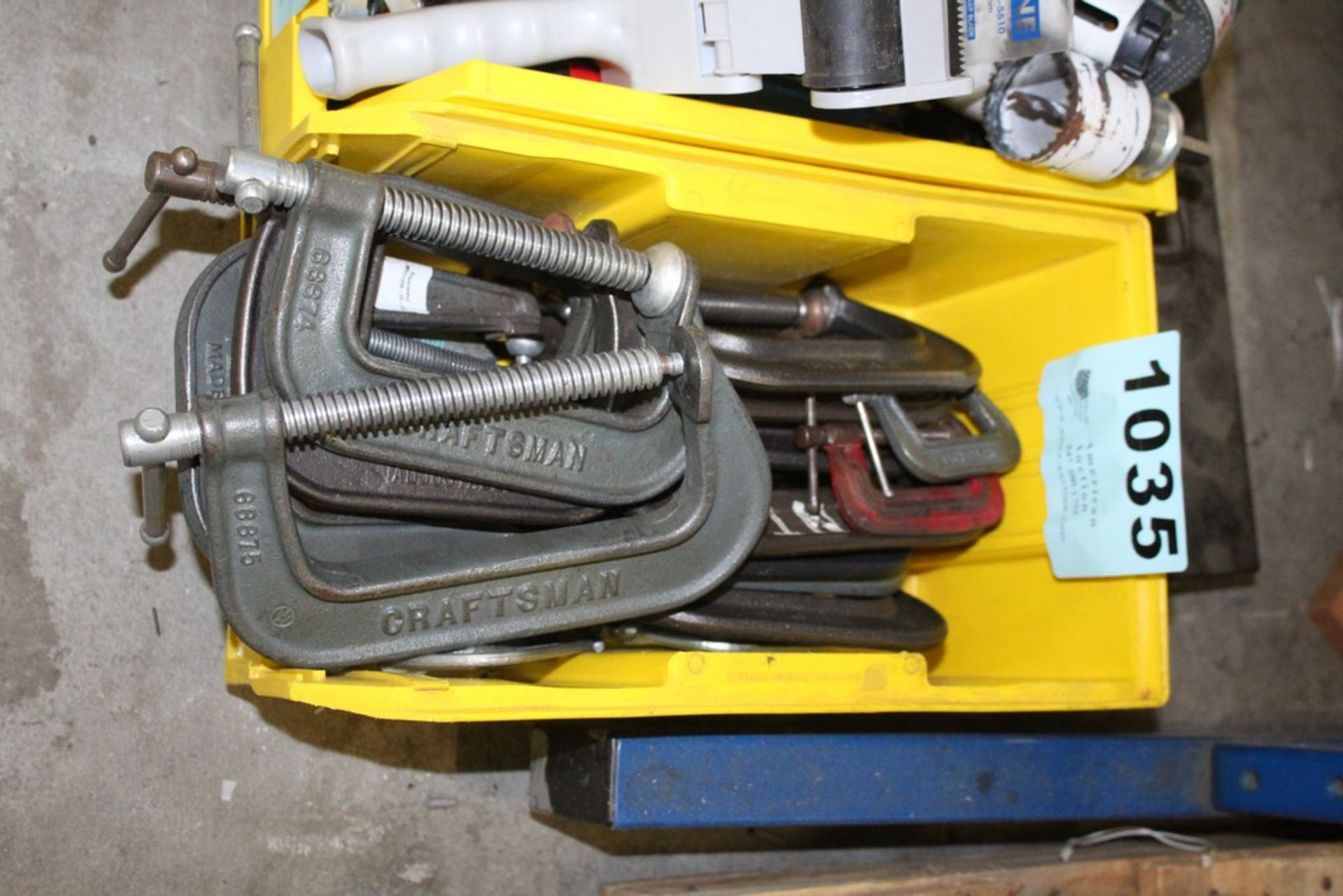 Lot 1035 - (18) ASSORTED C CLAMPS