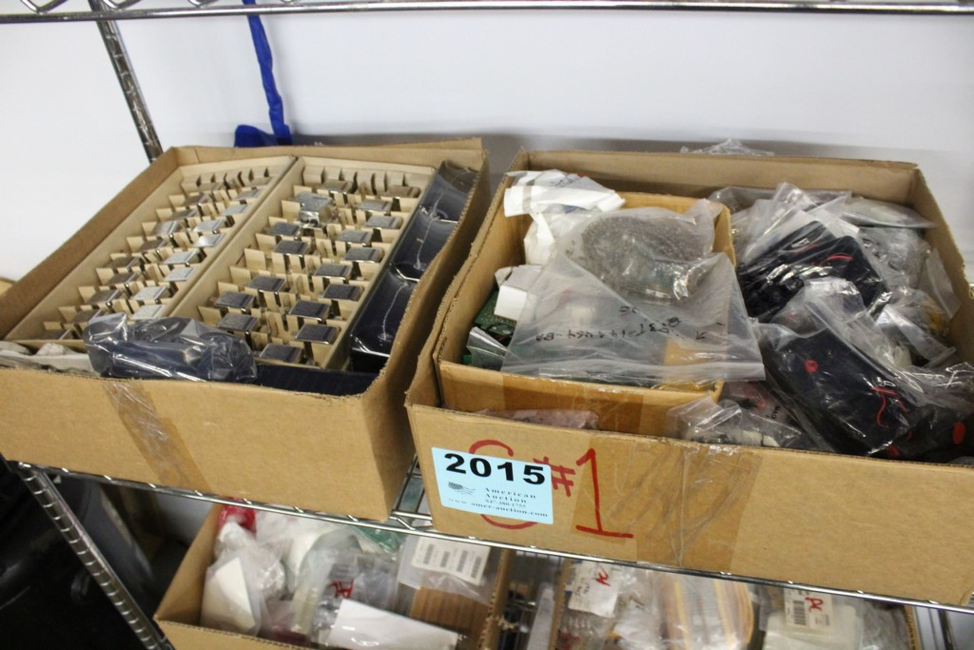 Lot 2015 - WIRING COMPONENTS ON SHELF