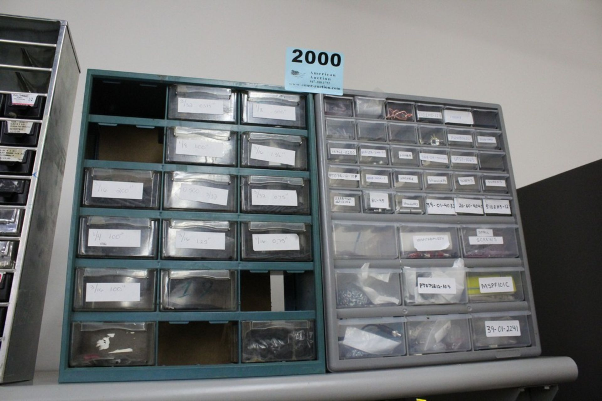 Lot 2000 - (2) MULTI-SLOT PARTS CABINETS WITH CONTENTS